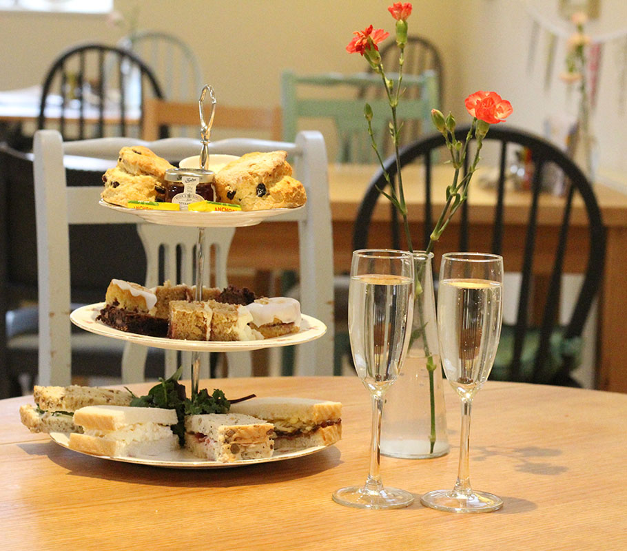 Mother's Day Afternoon Tea in Derbyshire - Bee's Tea Room Findern